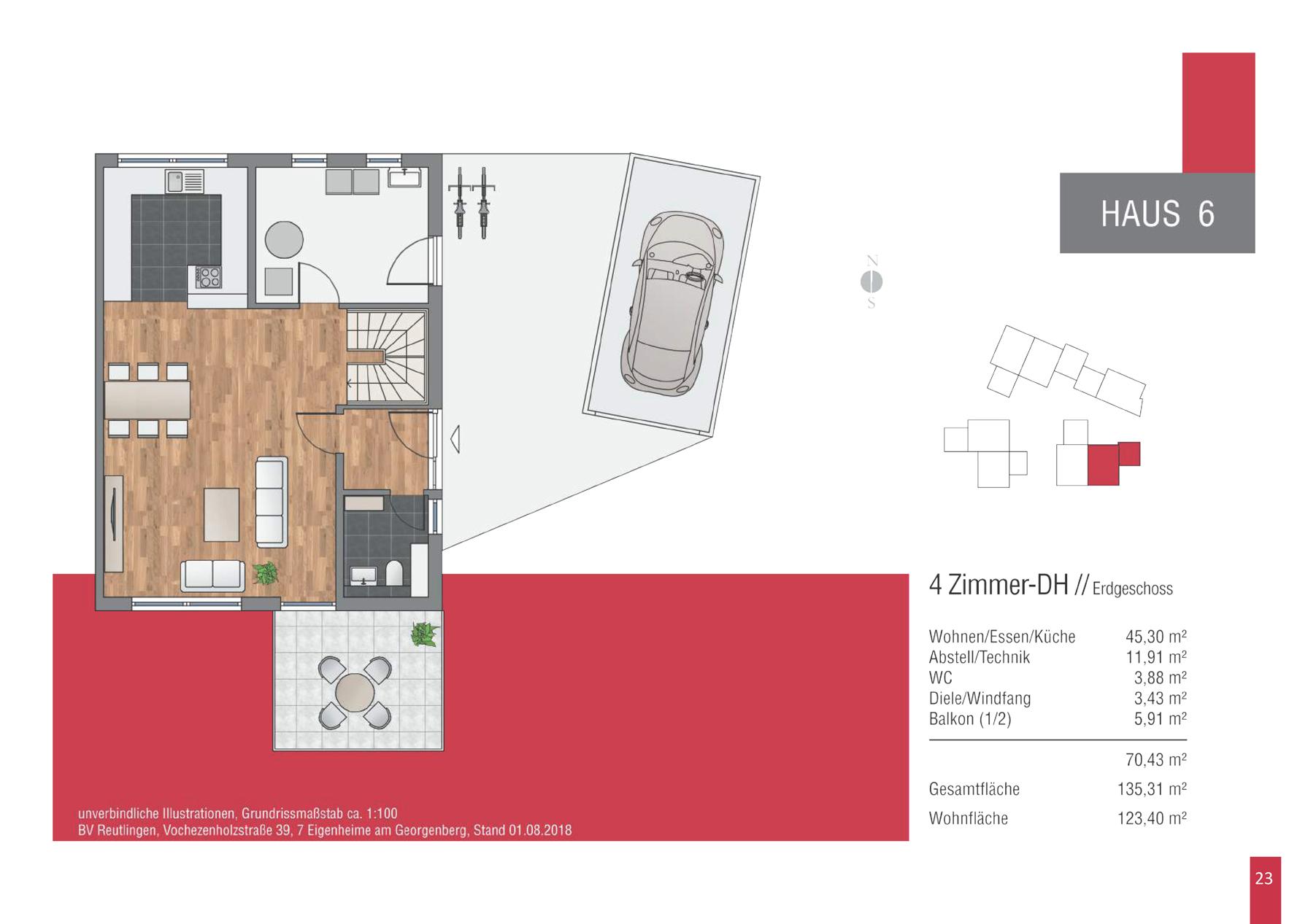 Bv Reutlingen Vochezenholzstrasse Grundriss Haus 6 Eg Englert
